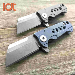 LDT Mini Folding Blade Knives S35VN Blade Titanium Handle Flipper