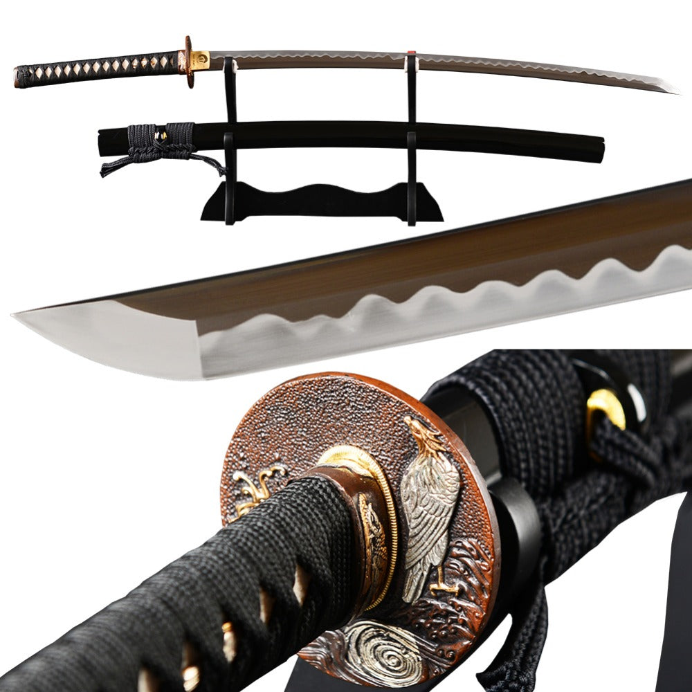 Very Sharp Samurai Sword Japanese Katana Fully Hand Polished Carbon Steel Clay Tempered Blade Espada Full Tang High Grade Sword