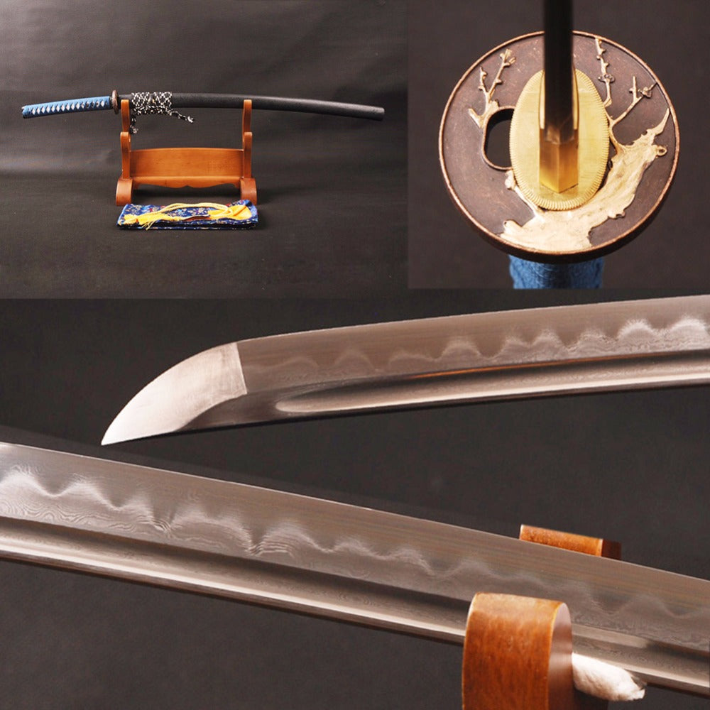 Top Quality Handmade Sword Folded Steel Damasus 32768 Layers Clay Tempered Blade Full Tang Real Japanese Vintage Samurai Katana