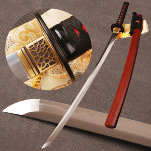 Folded Steel Clay Tempered Samurai Sword Katana Full Tang 32768 Layers hamon Blade Handmade Sharp Japanese Espada Can Cut Bamboo - VIKNIFE