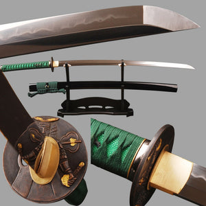 T8 Clay Tempered Samurai Sword Japanese Katana Full Tang Sharp Blade without Hi Espada Can Cut Bamboo Nice Present for Families