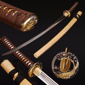 Swords Double Blood Groove Katana Sharpened Japanese Sword Unokubitsukuri Samurai Sword Full Tang Tameshigiri Knife