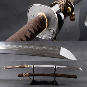 Battle Ready Samurai Katana Japanese Sword Handmade Full Tang Cutting Practice Espada Folded Steel Clay Tempered Blade Knife - VIKNIFE