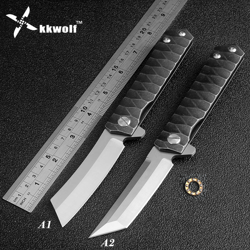 HOT Bearing Ball Flipper Pocket Knife D2 Steel Folding Tactical Combat Hunting Self-defense Knives EDC Fishing Camping Tool mult - VIKNIFE