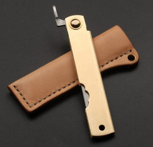 3 layer forged steel razor folding knife outdoor utility pocket Knives hunting EDC hand tools knife with shealth handmade - VIKNIFE