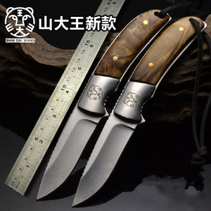 440C Blade Hunting Straight Knife Wood Handle - VIKNIFE