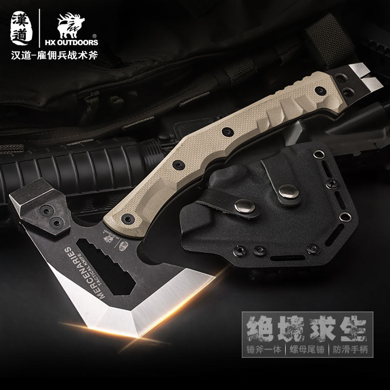 HX OUTDOORS Rescue Outdoor Multifunctional Axe Camping Hunting Artillery Fire Rescue Axe Hammer FT-02 Outdoor Tactical axes