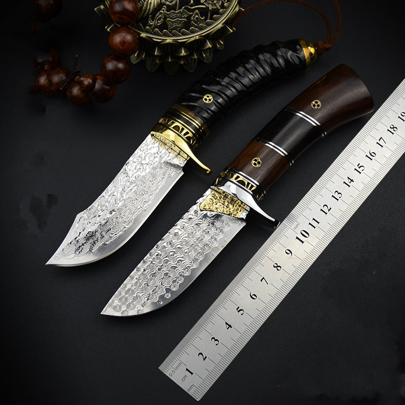 High hardness VG10 Damascus straight knife collection outdoor survival - VIKNIFE