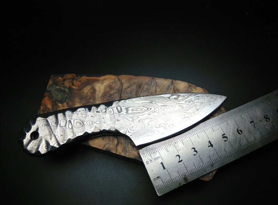 High carbon forging Damascus steel small straight knife - VIKNIFE