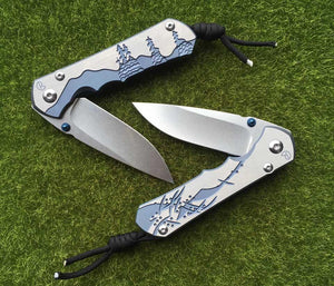 Chris Reeve Large Sebenza 25 Titanium Pattern - VIKNIFE