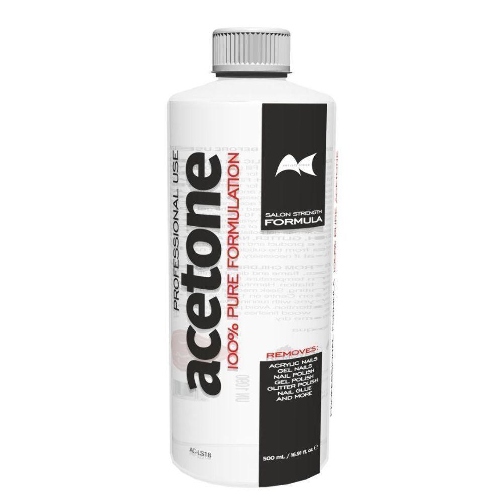 Artists Choice 100% Pure Acetone 500ml Gel Acrylic Nail