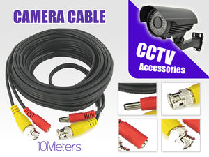 10m Power & Video CCTV Camera Cable - Perfect Dealz