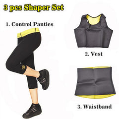 3 Pcs Hot Shaper Neoprene Slimming Set