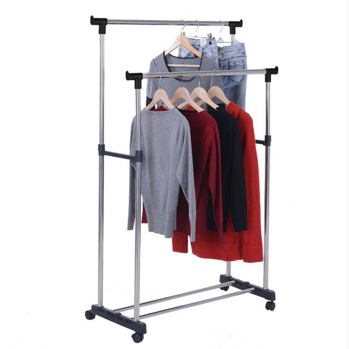 Stain Steel Double Pole Clothing Rail