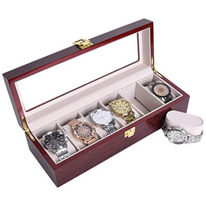 Luxury Wooden Watch Box 6 Slots