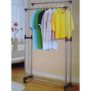 Stain Steel Double Pole Clothing Rail - Perfect-Dealz