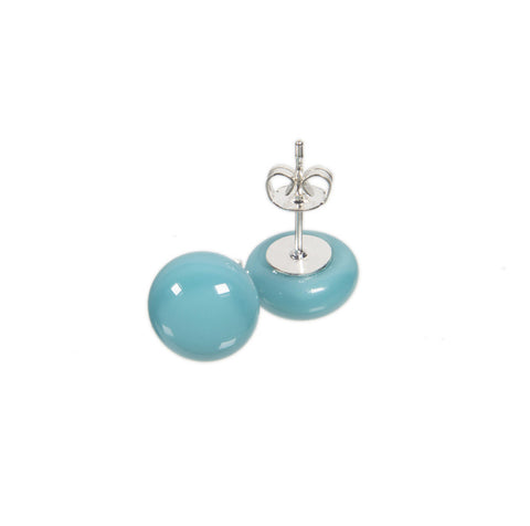 Basic earrings in baby blue