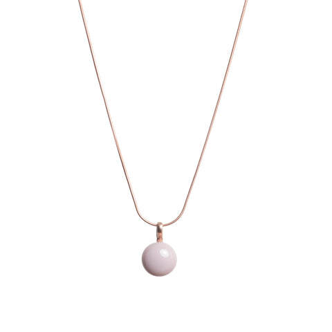 Basic necklace in dusty rose