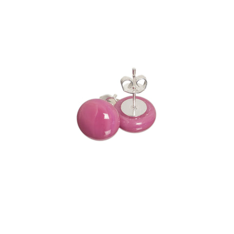 Basic earrings in candy pink