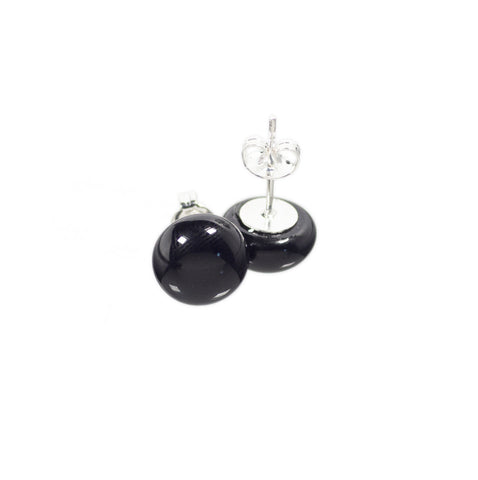 Basic earrings in black