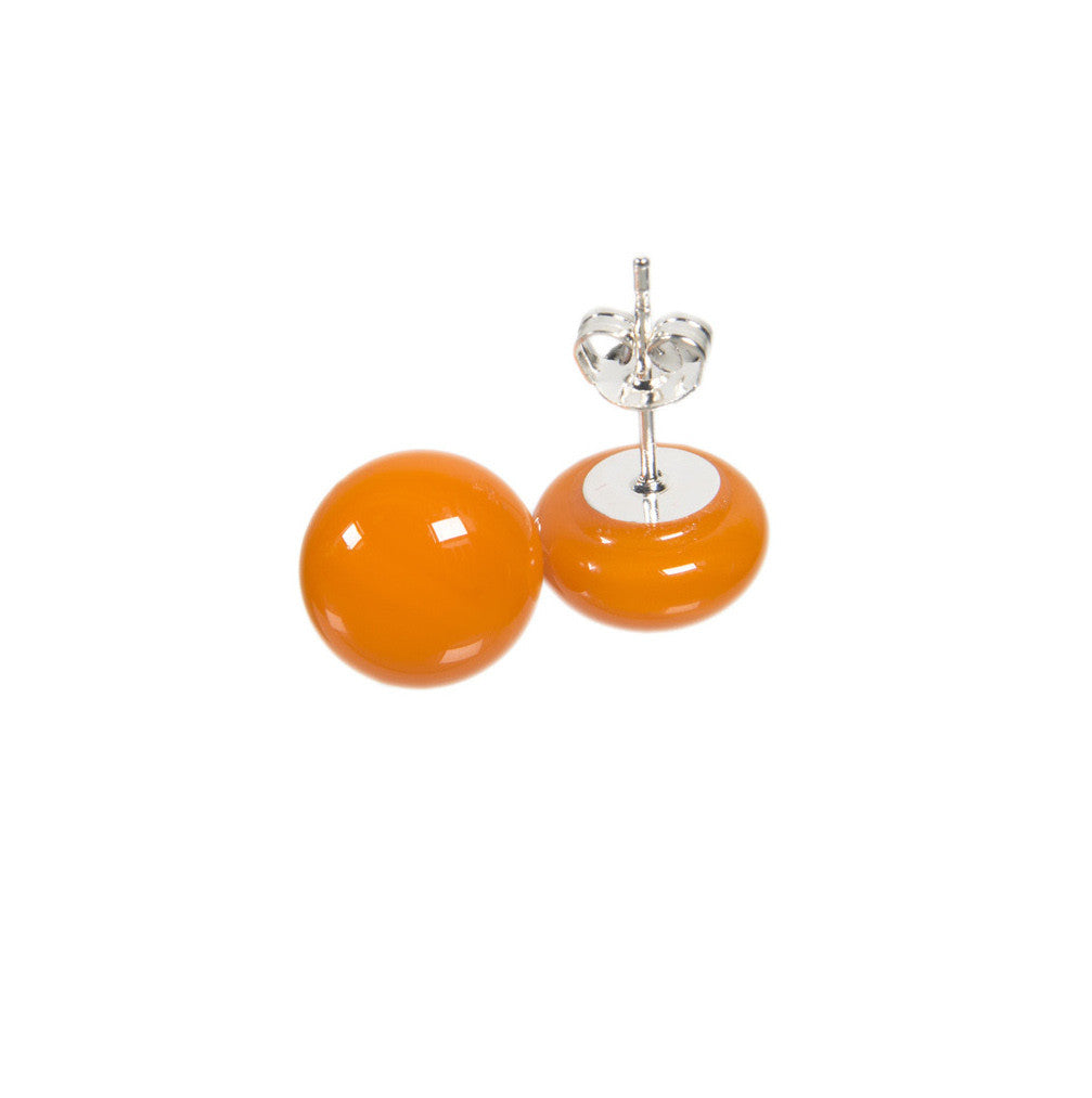 Basic earrings in tangerine orange