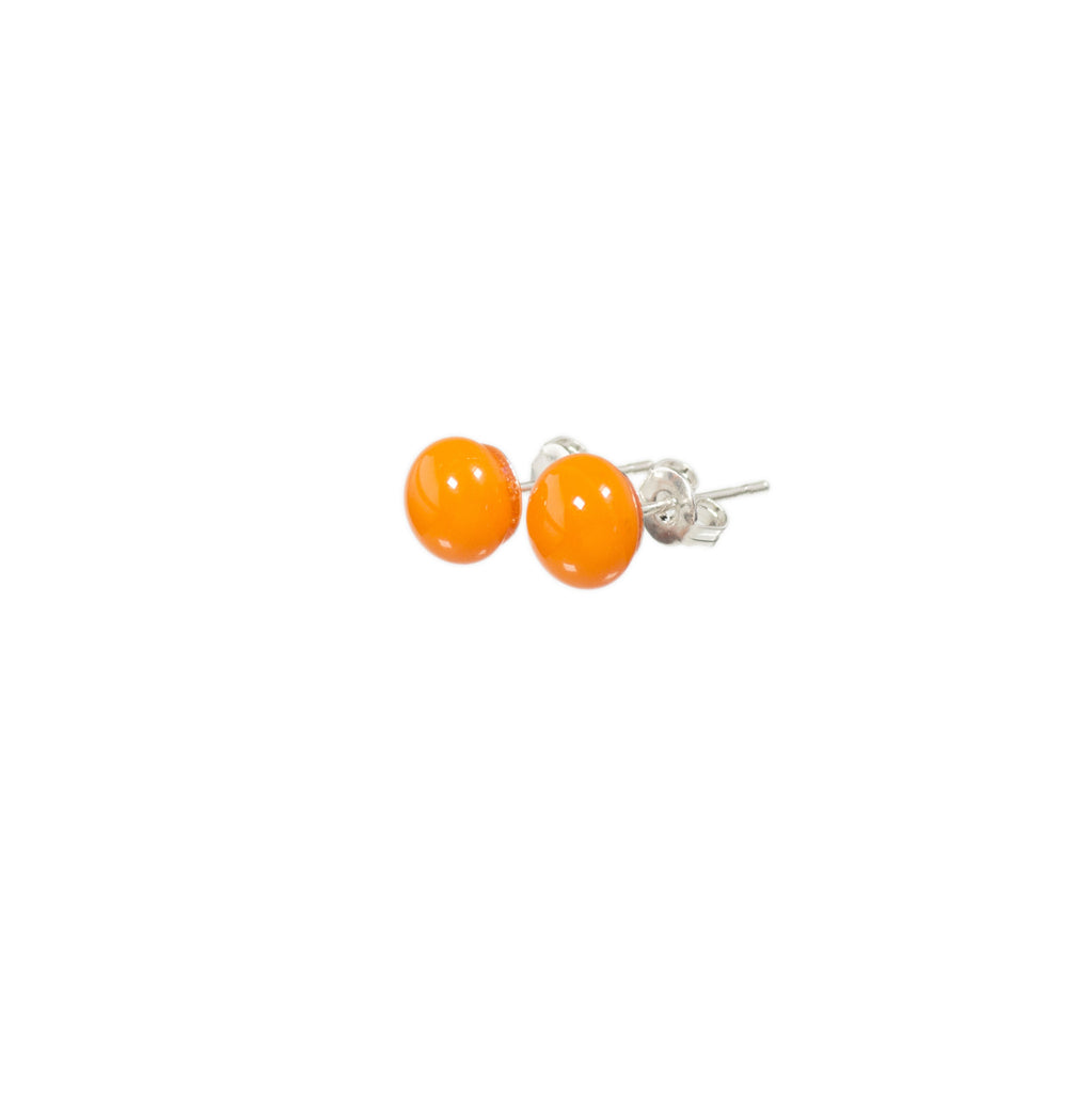 Confetti earrings tangerine orange