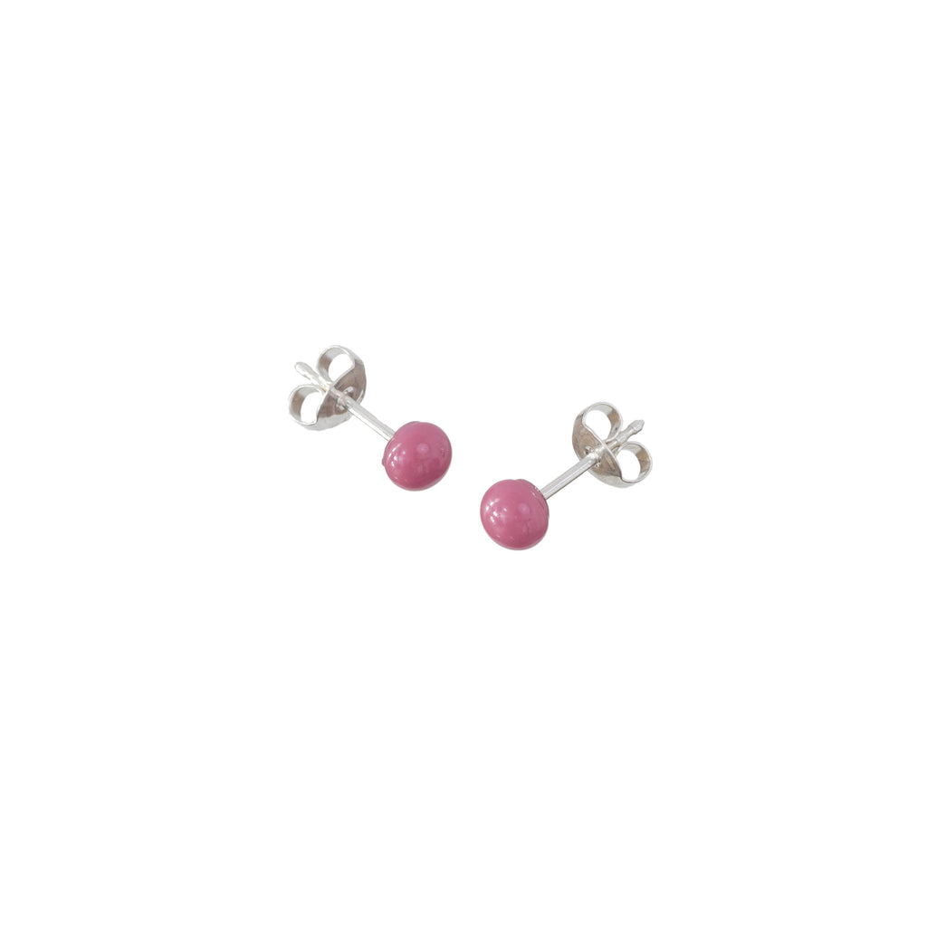 Pin earrings in candy pink