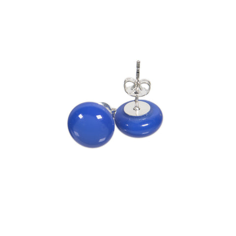 Basic earrings in cobalt blue