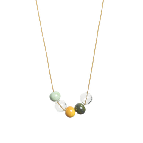 Ella necklace in olive green
