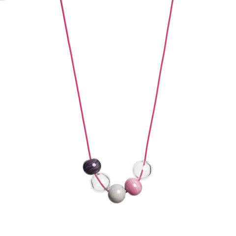 Ella necklace in pink