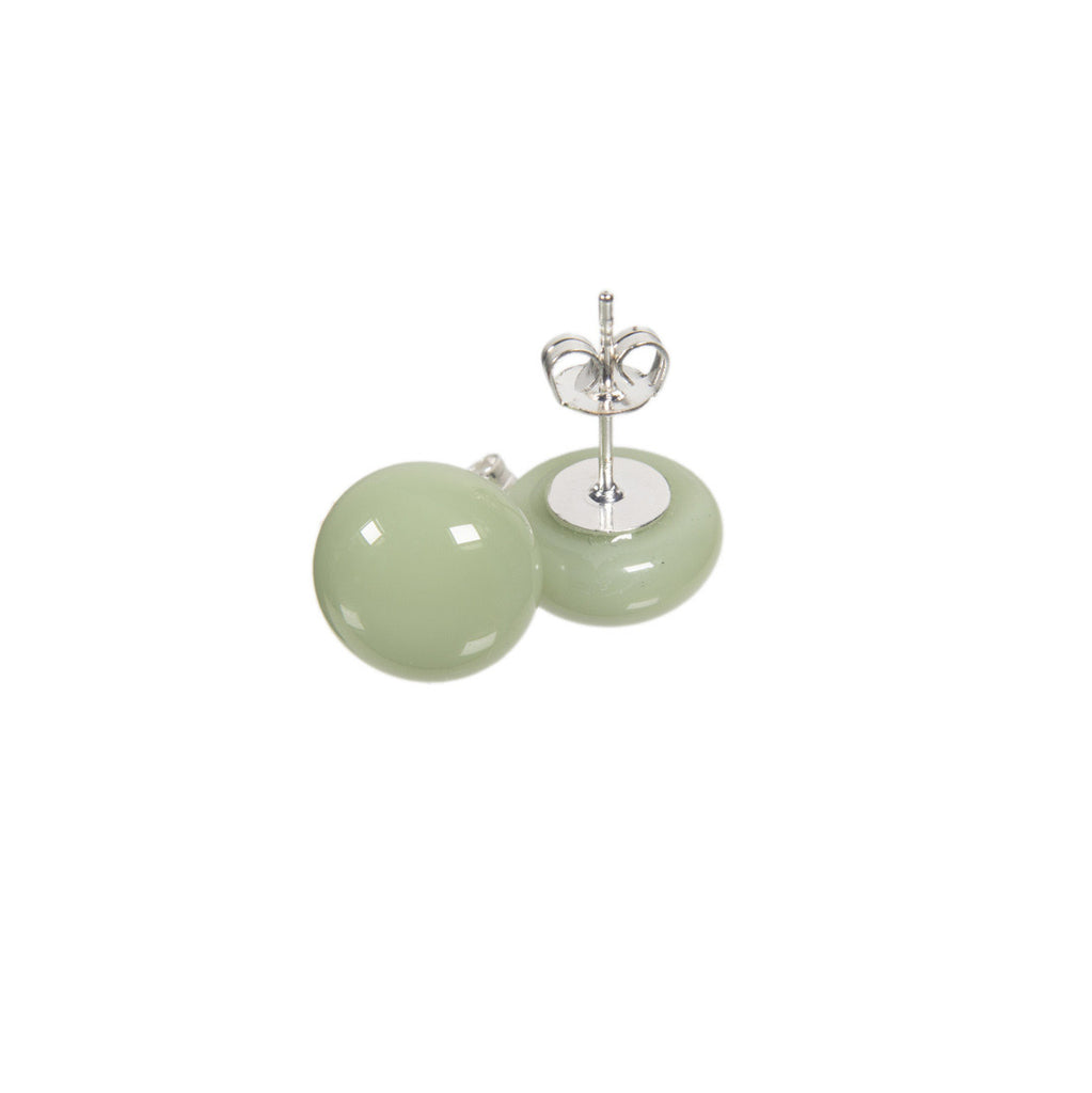 Basic earrings in green tea