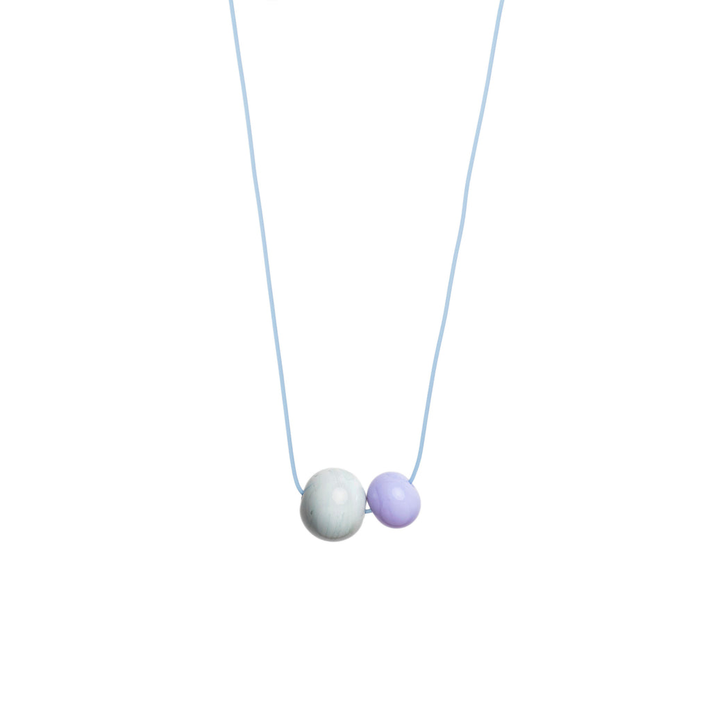 Double Bubble necklace in grey/lilac