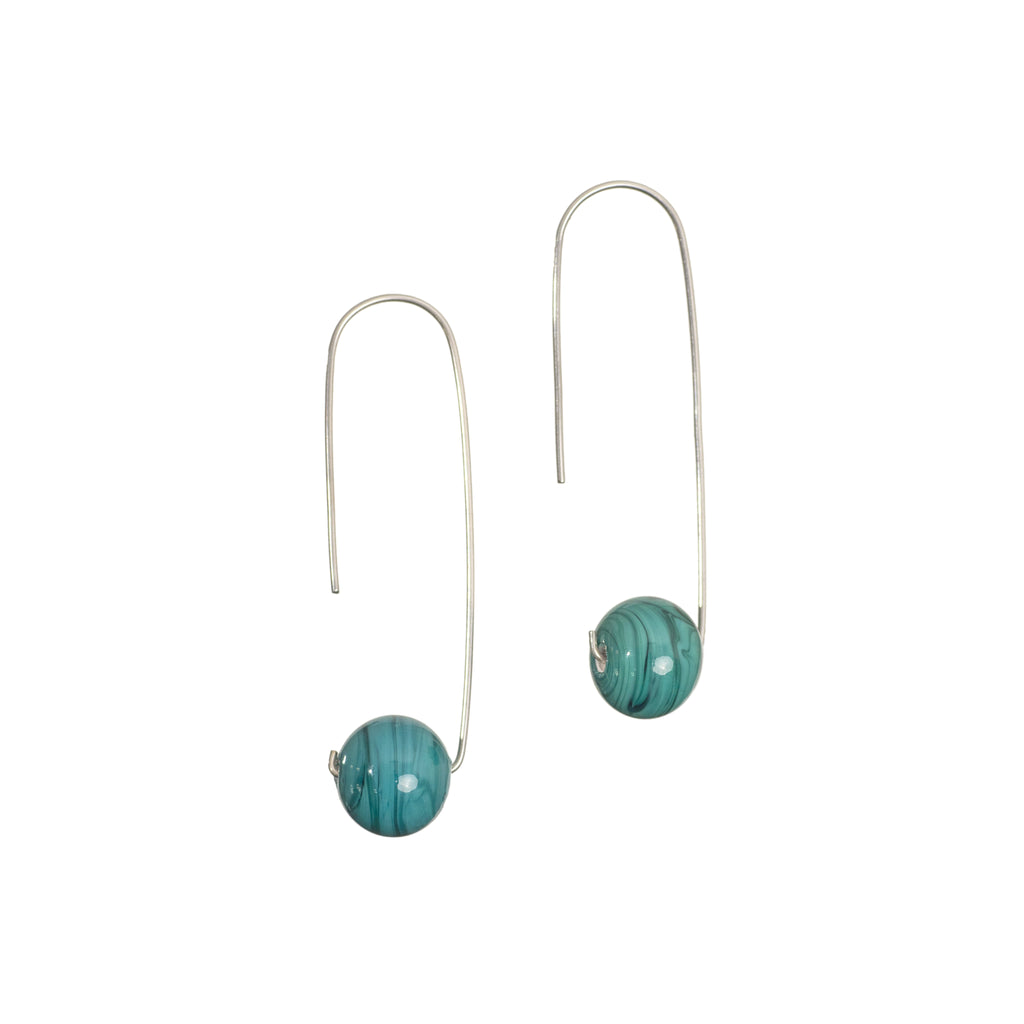 Lana earrings in teal