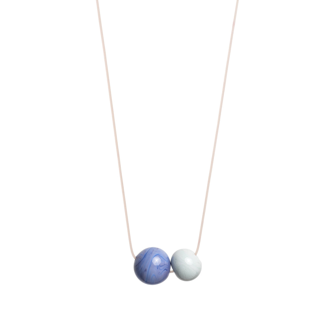 Double Bubble necklace in lavender/grey