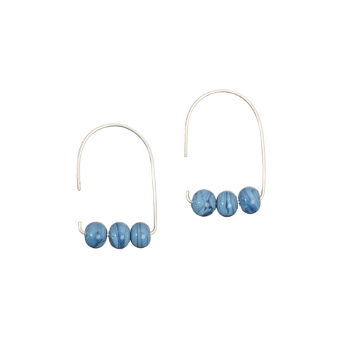 Maya earrings in dusty blue