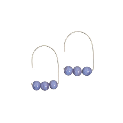 Maya earrings in lavender