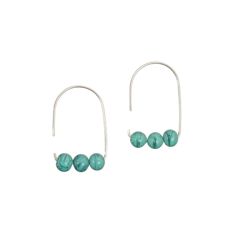 Maya earrings in teal