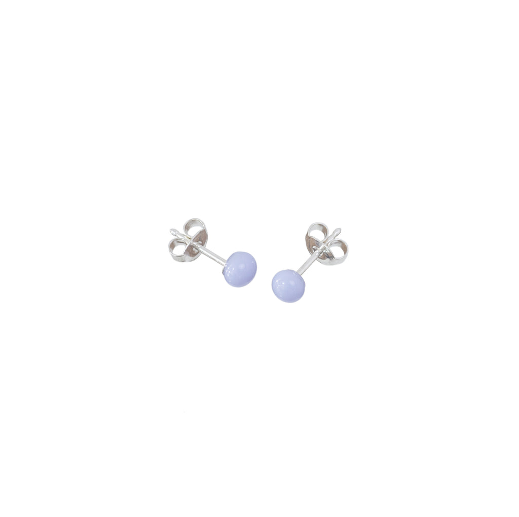 Pin earrings in pale lilac