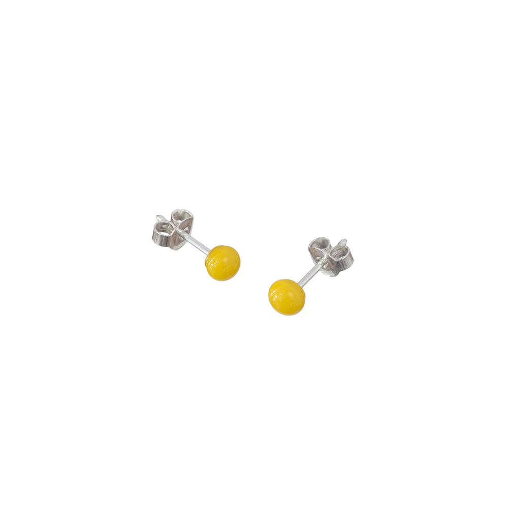 Pin earrings in sunflower yellow