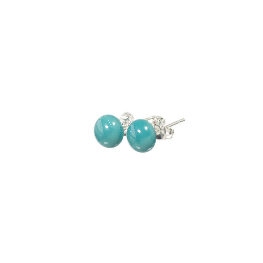 Confetti earrings in teal