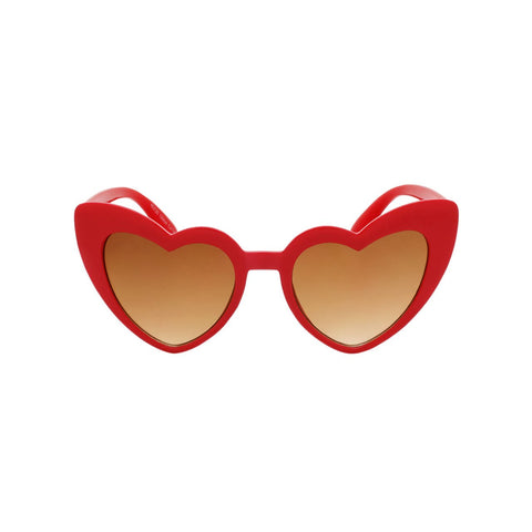 Girls Heart Shaped Sunglasses Ibiza Crimson