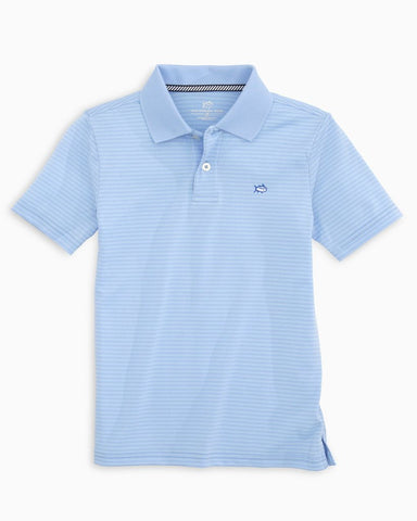 BOYS ROSTER STRIPED PERFORMANCE POLO SHIRT