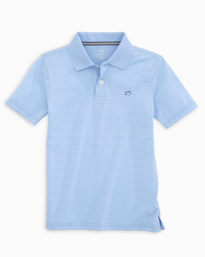 Boys' Roster Striped Performance Polo Shirt