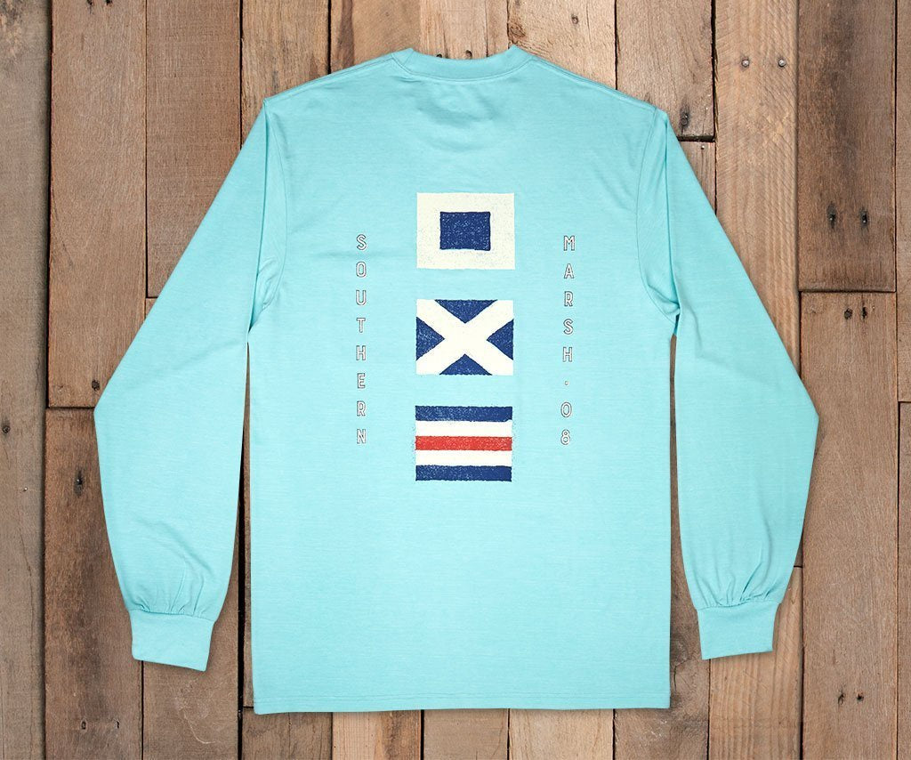 FieldTec™ Heathered Long Sleeve Tee - Flags
