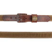 Load image into Gallery viewer, The Field Tan Waxed Canvas Belt
