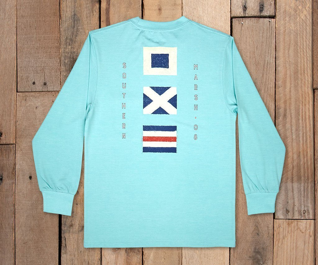 Youth FieldTec™ Heathered LS Tee - Flags