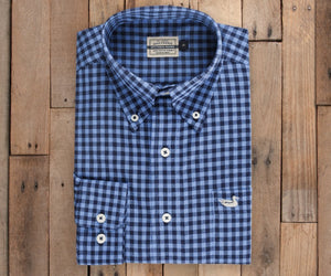 Summer Washed Gingham Dress Shirt