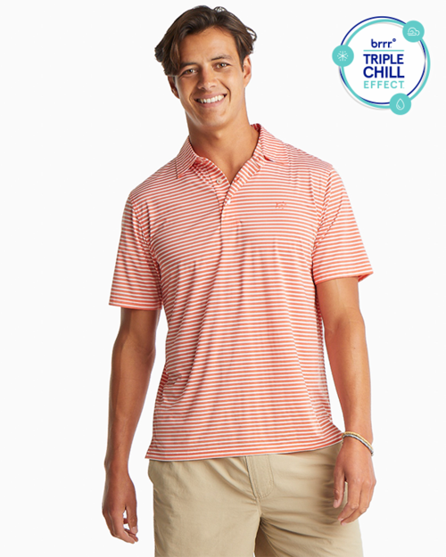 Bimini Brrr® Striped Performance Polo Shirt