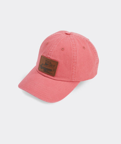 Leather Boat Patch Baseball Hat