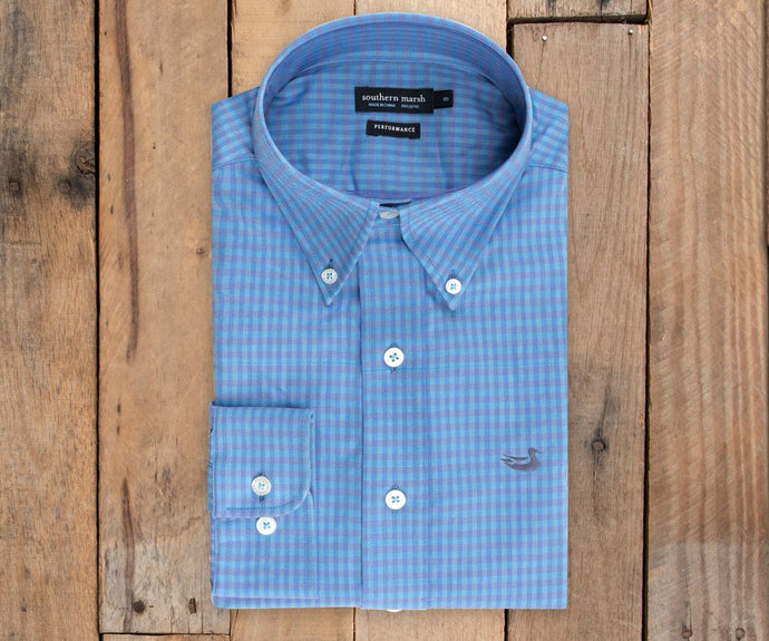 Greene Performance Check Dress Shirt